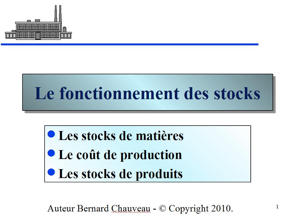 LE FONCTIONNEMENT DES STOCKS